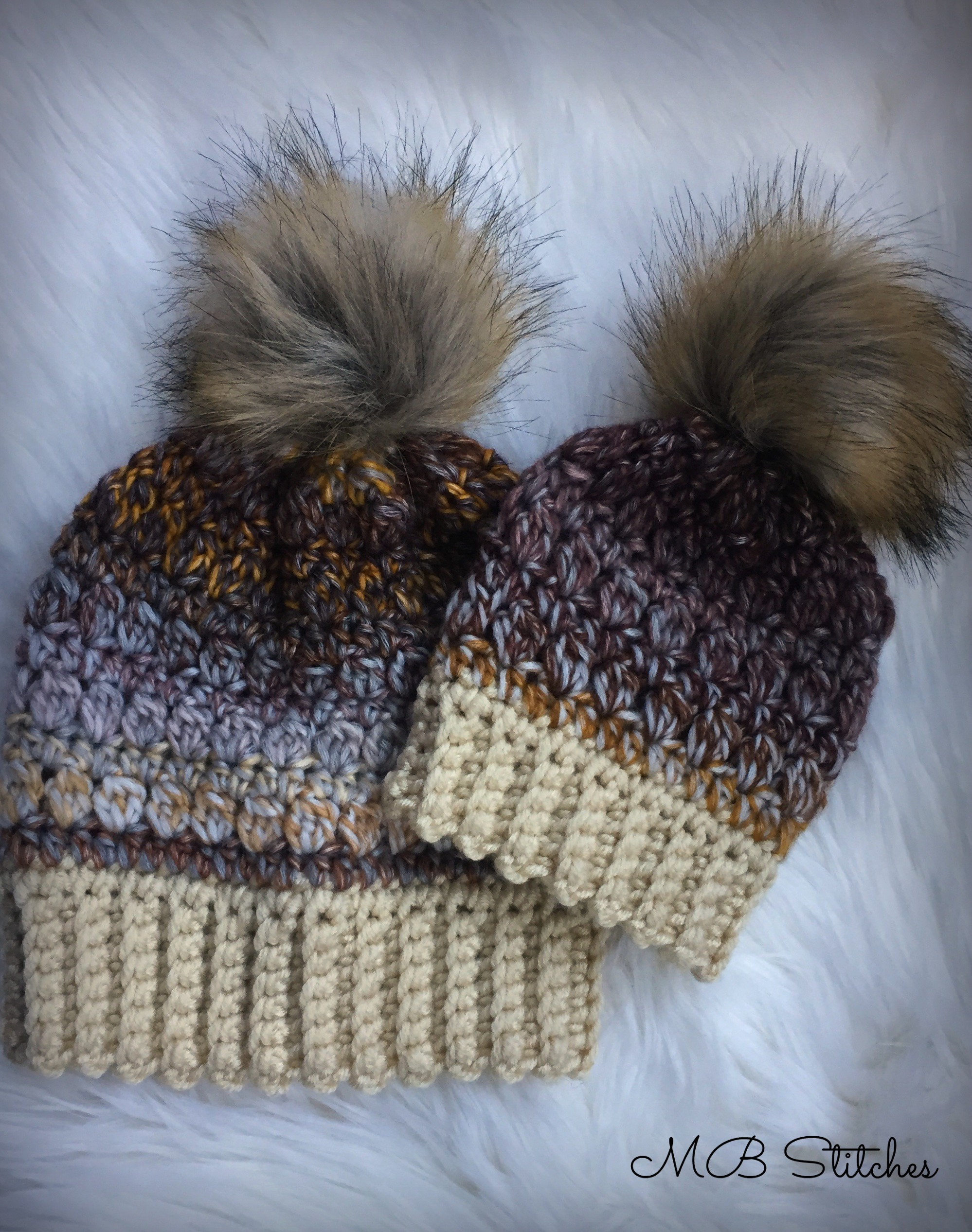 Mom and Baby Chameleon Hat Set - MB Stitches